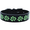 Mirage Pet Products Embroidered Dog Collar Shamrock Large