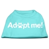 Mirage Pet Products Adopt Me Screen Print Shirt Aqua Lg (14)