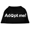 Mirage Pet Products Adopt Me Screen Print Shirt Black  XS (8)