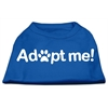 Mirage Pet Products Adopt Me Screen Print Shirt Blue XL (16)