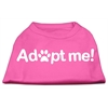 Mirage Pet Products Adopt Me Screen Print Shirt Bright Pink XL (16)