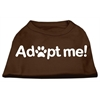 Mirage Pet Products Adopt Me Screen Print Shirt Brown Lg (14)