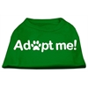 Mirage Pet Products Adopt Me Screen Print Shirt Green Sm (10)