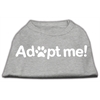 Mirage Pet Products Adopt Me Screen Print Shirt Grey Lg (14)