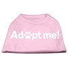 Mirage Pet Products Adopt Me Screen Print Shirt Light Pink XXXL (20)