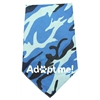 Mirage Pet Products Adopt Me Screen Print Bandana Blue Camo