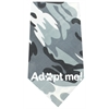 Mirage Pet Products Adopt Me Screen Print Bandana Grey Camo