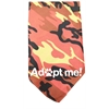 Mirage Pet Products Adopt Me Screen Print Bandana Orange Camo