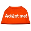 Mirage Pet Products Adopt Me Screen Print Shirt Orange Lg (14)