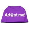 Mirage Pet Products Adopt Me Screen Print Shirt Purple XXXL (20)