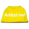 Mirage Pet Products Adopt Me Screen Print Shirt Yellow Lg (14)