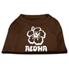 Mirage Pet Products Aloha Flower Screen Print Shirt Brown XXL (18)