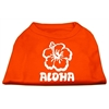 Mirage Pet Products Aloha Flower Screen Print Shirt Orange Lg (14)