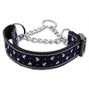 Mirage Pet Products Anchors Nylon Ribbon Collar Martingale Blue Medium