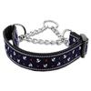 Mirage Pet Products Anchors Nylon Ribbon Collar Martingale Blue Large