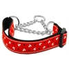 Mirage Pet Products Anchors Nylon Ribbon Collar Martingale Red Medium