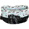 Mirage Pet Products Aqua Party Dots Reversible Snuggle Bugs Pet Bed, Bag, and Car Seat All-in-One