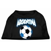 Mirage Pet Products Argentina Soccer Screen Print Shirt Black XXL (18)