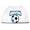 Mirage Pet Products Argentina Soccer Screen Print Shirt White 5x (24)