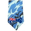 Mirage Pet Products Australian Bone Flag Screen Print Bandana Blue Camo
