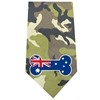Mirage Pet Products Australian Bone Flag Screen Print Bandana Green Camo
