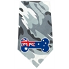 Mirage Pet Products Australian Bone Flag Screen Print Bandana Grey Camo