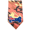 Mirage Pet Products Australian Bone Flag Screen Print Bandana Orange Camo