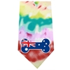 Mirage Pet Products Australian Bone Flag Screen Print Bandana Tie Dye
