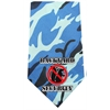 Mirage Pet Products Back Yard Security Screen Print Bandana Blue Camo