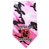 Mirage Pet Products Back Yard Security Screen Print Bandana Pink Camo