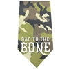 Mirage Pet Products Bad to the Bone Screen Print Bandana Green Camo
