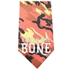 Mirage Pet Products Bad to the Bone Screen Print Bandana Orange Camo
