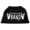 Mirage Pet Products With the Band Screen Print Shirt Black  XXL (18)