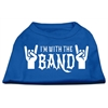 Mirage Pet Products With the Band Screen Print Shirt Blue Med (12)