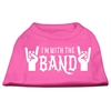 Mirage Pet Products With the Band Screen Print Shirt Bright Pink XL (16)