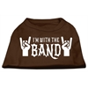 Mirage Pet Products With the Band Screen Print Shirt Brown Lg (14)