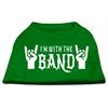 Mirage Pet Products With the Band Screen Print Shirt Green Lg (14)