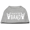 Mirage Pet Products With the Band Screen Print Shirt Grey XS (8)
