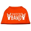 Mirage Pet Products With the Band Screen Print Shirt Orange Med (12)