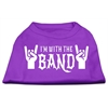 Mirage Pet Products With the Band Screen Print Shirt Purple XXL (18)