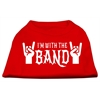 Mirage Pet Products With the Band Screen Print Shirt Red XS (8)