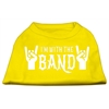 Mirage Pet Products With the Band Screen Print Shirt Yellow Lg (14)