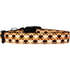 Mirage Pet Products Bat Argyle Nylon Dog Collar Large
