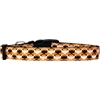 Mirage Pet Products Bat Argyle Nylon Dog Collar Medium Narrow