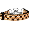 Mirage Pet Products Bat Argyle Nylon Dog Collar Medium Martingale