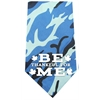 Mirage Pet Products Be Thankful for Me Screen Print Bandana Blue Camo