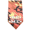 Mirage Pet Products Be Thankful for Me Screen Print Bandana Orange Camo