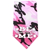 Mirage Pet Products Be Thankful for Me Screen Print Bandana Pink Camo