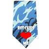 Mirage Pet Products Bitches Love Me Screen Print Bandana Blue Camo