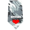 Mirage Pet Products Bitches Love Me Screen Print Bandana Grey Camo